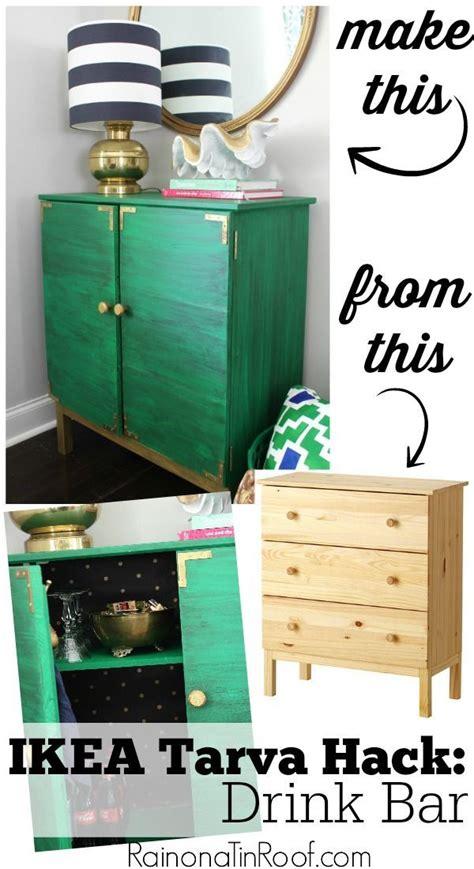 ikea tarva hack drink bar cabinet furniture green