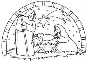 nativity birth jesus scene coloring color luna