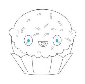 imagenes de frutas kawaii para colorear coloriage cupcake avec les 233 tincelles kawaii