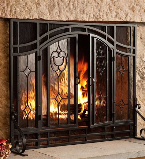 I Wish I Had A Fireplace On Pinterest Fireplaces Mantle Fireplace Screens With Glass Doors