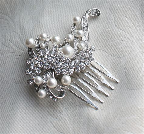 Wedding Hair With Brooch by Bridal Pearls Hair Brooch For Wedding By Wearableartz