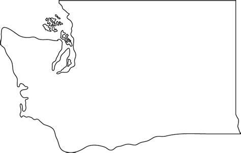 Blank Outline Map Of Washington State by Washington Outline Map