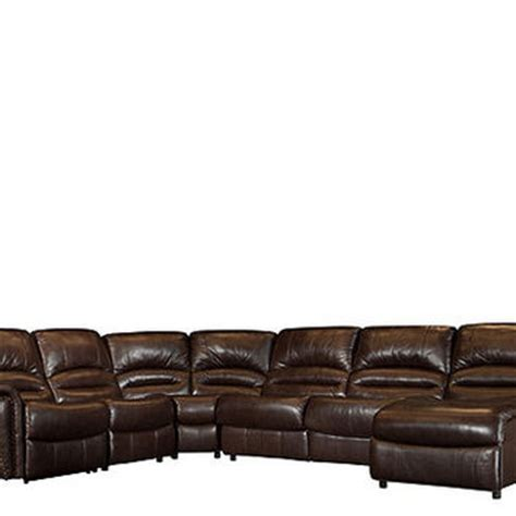 5 pc leather match power reclining from raymour