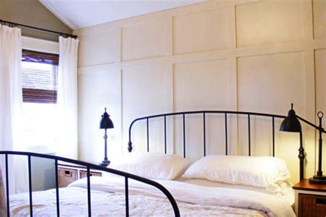 wood panel accent wall how to create a faux paneled accent wall this old house