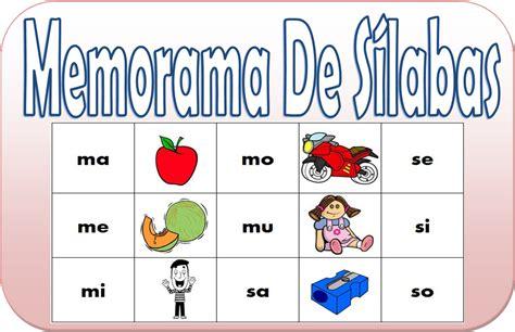 jugar y aprender con memorama de s 237 labas para primer grado educaci 243 n primaria