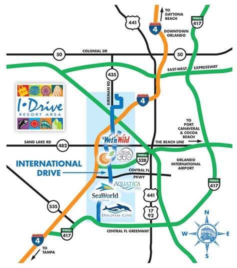 florida international map orlando international drive florida
