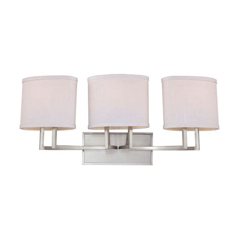 bathroom light shades modern bathroom light with grey shades in brushed nickel
