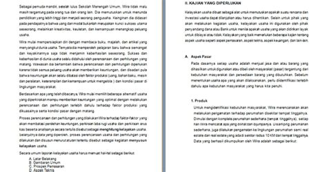 Contoh Penawaran Produk Docx by Contoh Studi Kelayakan Usaha Bisnis Contoh Makalah Docx