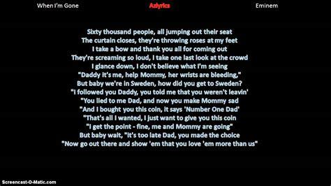 eminem azlyrics eminem when i m gone lyrics youtube