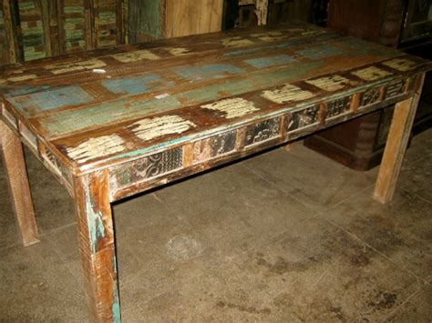 leela indian reclaimed dining table reclaimed furniture