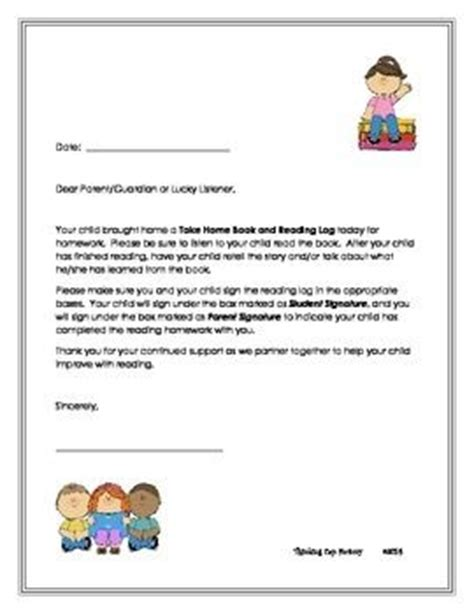 Parent Letter For Reading Log Reading Logs Parent Letters And Logs On