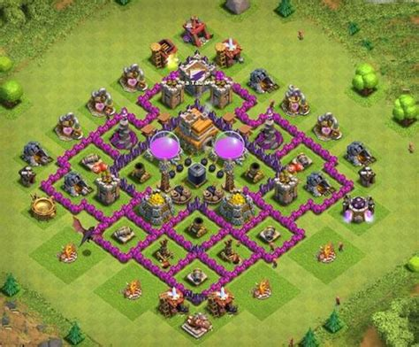 strong defense base th6 all best town hall 6 base ever coc th 6 bases th6 anti