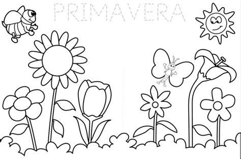 imagenes para colorear primavera im 225 genes de la primavera dibujos para colorear colorear