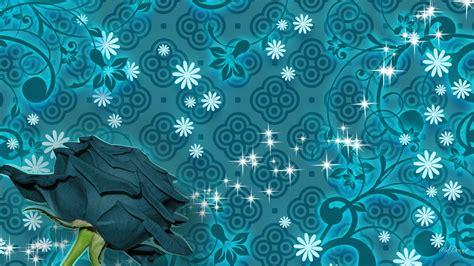 wallpaper teal flower flower pattern wallpaper 1600x1200 71106
