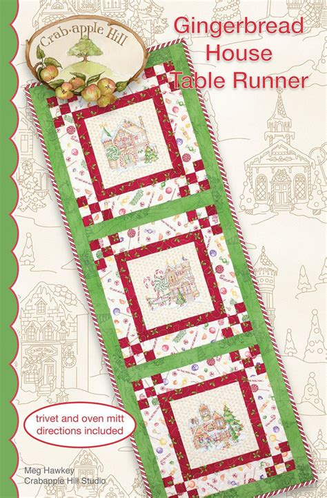 gingerbread house pattern book gingerbread house table runner pattern 875352003838