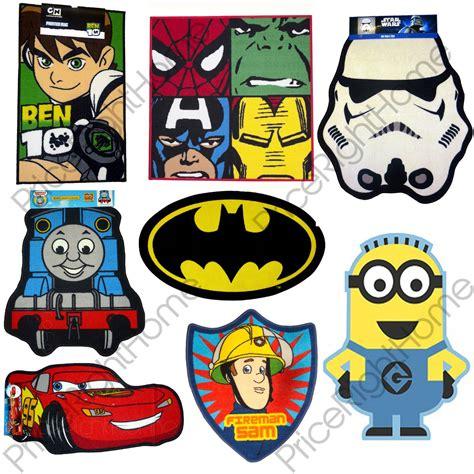 boys bedroom character rugs wars minions batman