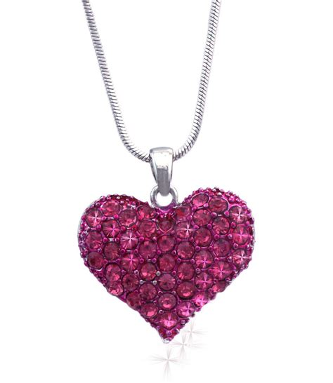 valentines necklaces pink pendant necklace s day birthday