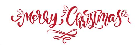 merry christmas red vintage calligraphy lettering vector text  art template design list page