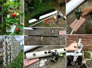 how to make a vertical strawberry planter home