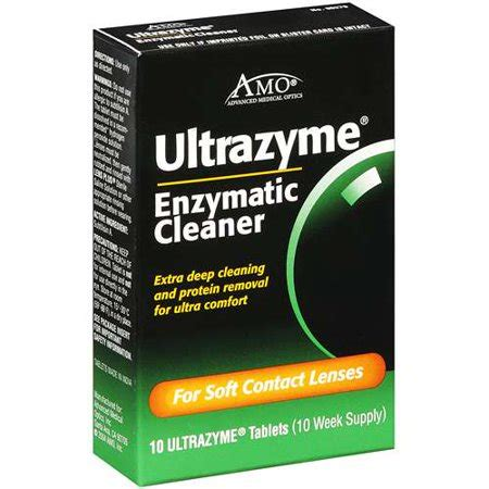ultrazyme enzymatic contact lens cleaner walmart.com