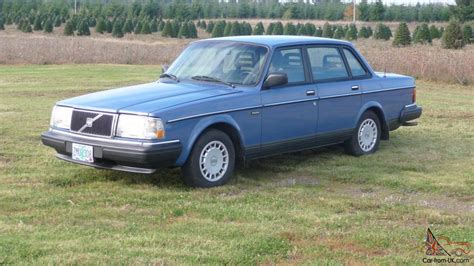 volvo 240 sedan 1989 low automatic blue