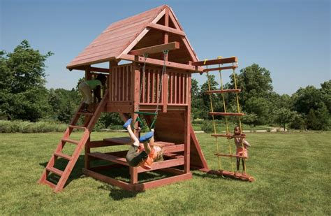 redwood swing sets wholesale juggling act small swing set for smaller backyards