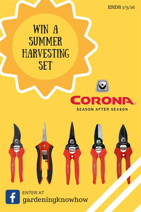 Blog Giveaway Tool - corona tools summer harvesting set giveaway gardening know how s blog