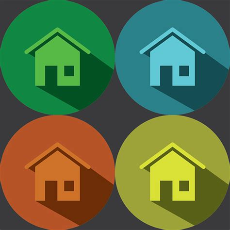 design home icon home icon flat design on behance