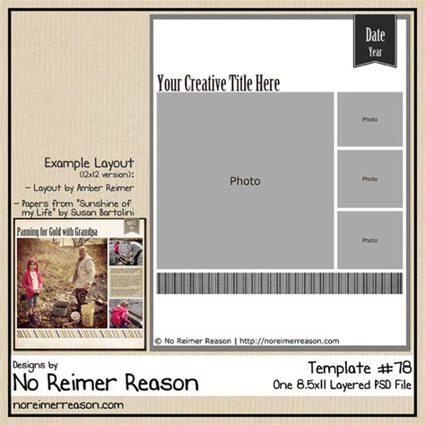 scrapbook templates for photoshop free 8 5x11 digital scrapbooking template photoshop psd file