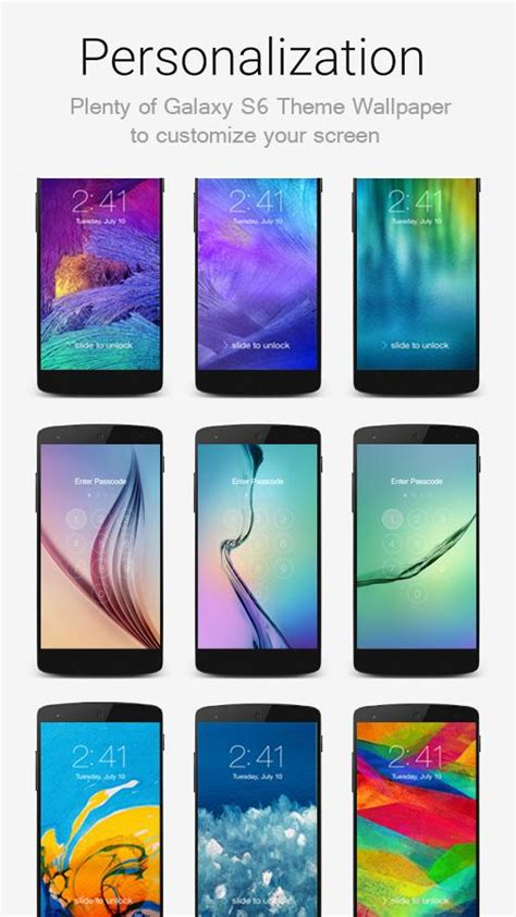 live themes for galaxy s6 lock screen galaxy s6 theme apk by wow lock screen details