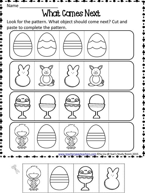 pattern unit worksheets 23 best images about 214 r 252 nt 252 on pinterest cut and paste