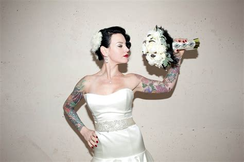 tattooed bride a tattooed cool groom 183 rock n roll