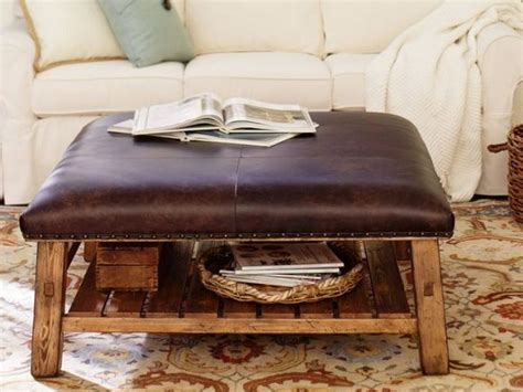 rustic leather ottoman 20 versatile rustic decor pieces for your home