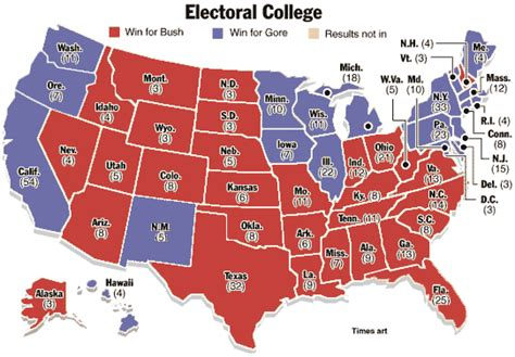 map of the us electoral votes electoral college map