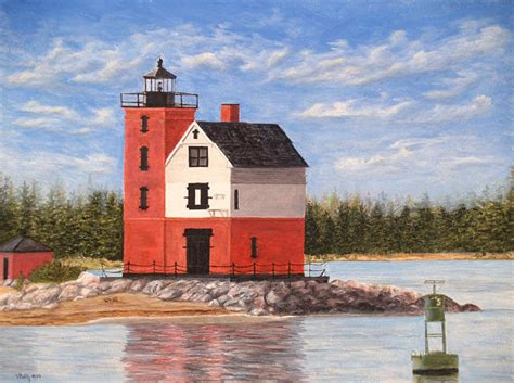 lighthouse home floor plans round island light house painting by vicky path