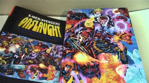 libro x men avengers onslaught omnibus onslaught marvel omnibus review x men and avengers comic toy reviews youtube