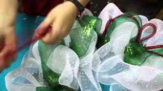 How to make a deco mesh wreath youtube