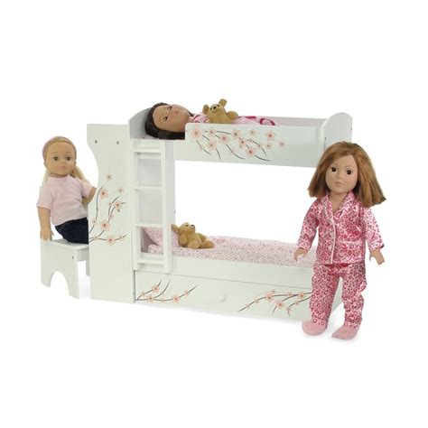 18 inch doll desk galleon fits american doll bunk bed desk combo
