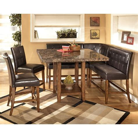 lacey corner counter height dining room set signature design  ashley furniture furniturepick