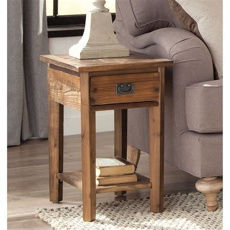 Wooden Side Table Alaterre Heritage Reclaimed Wood Side Table Ebay