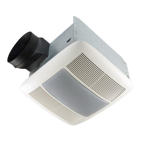 Qtx Series Very Quiet 80 Cfm Ceiling Exhaust Bath Fan With Bathroom Ceiling Light Fan