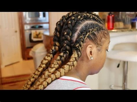 goddess/ feed in braids youtube