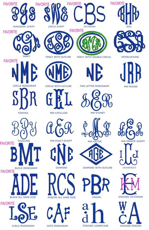Preppy Monogrammed Gifts Fonts Best Fonts For Initials