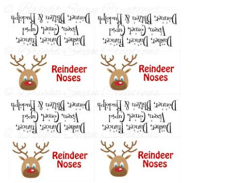 printable reindeer labels best photos of reindeer noses printable free printable