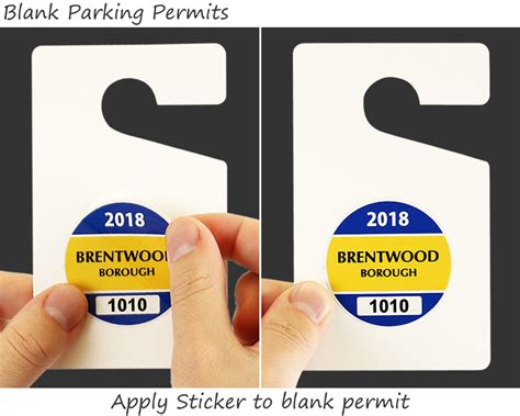 self laminating parking permits and blank hang tags