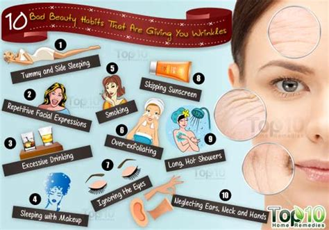 bed habits 10 bad beauty habits that are giving you wrinkles top 10
