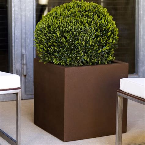 square outdoor planters cubo square outdoor garden planter homeinfatuation