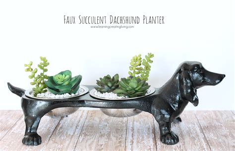 dachshund planter faux succulent dachshund planter katelyn chantel blog