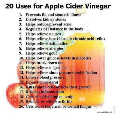 Apple Cider Vinegar Detox Bath Benefits by Apple Cider Vinegar Health Benefits Of