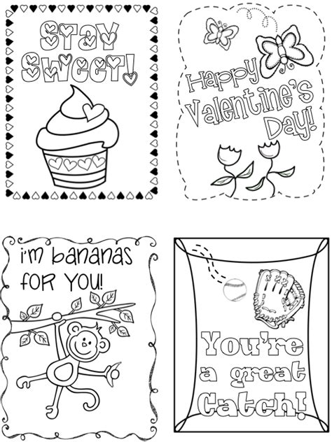 valentines day coloring cards template kearson s classroom s day cards